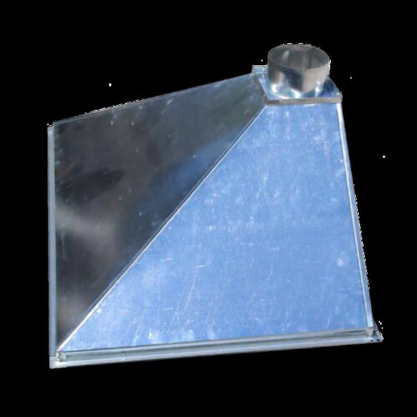 Зонт вытяжной пристенный из оцинкованной стали