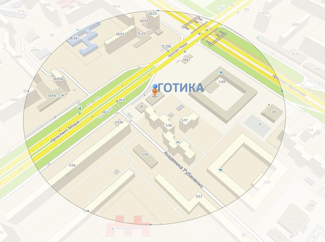 карта ГОТИКА