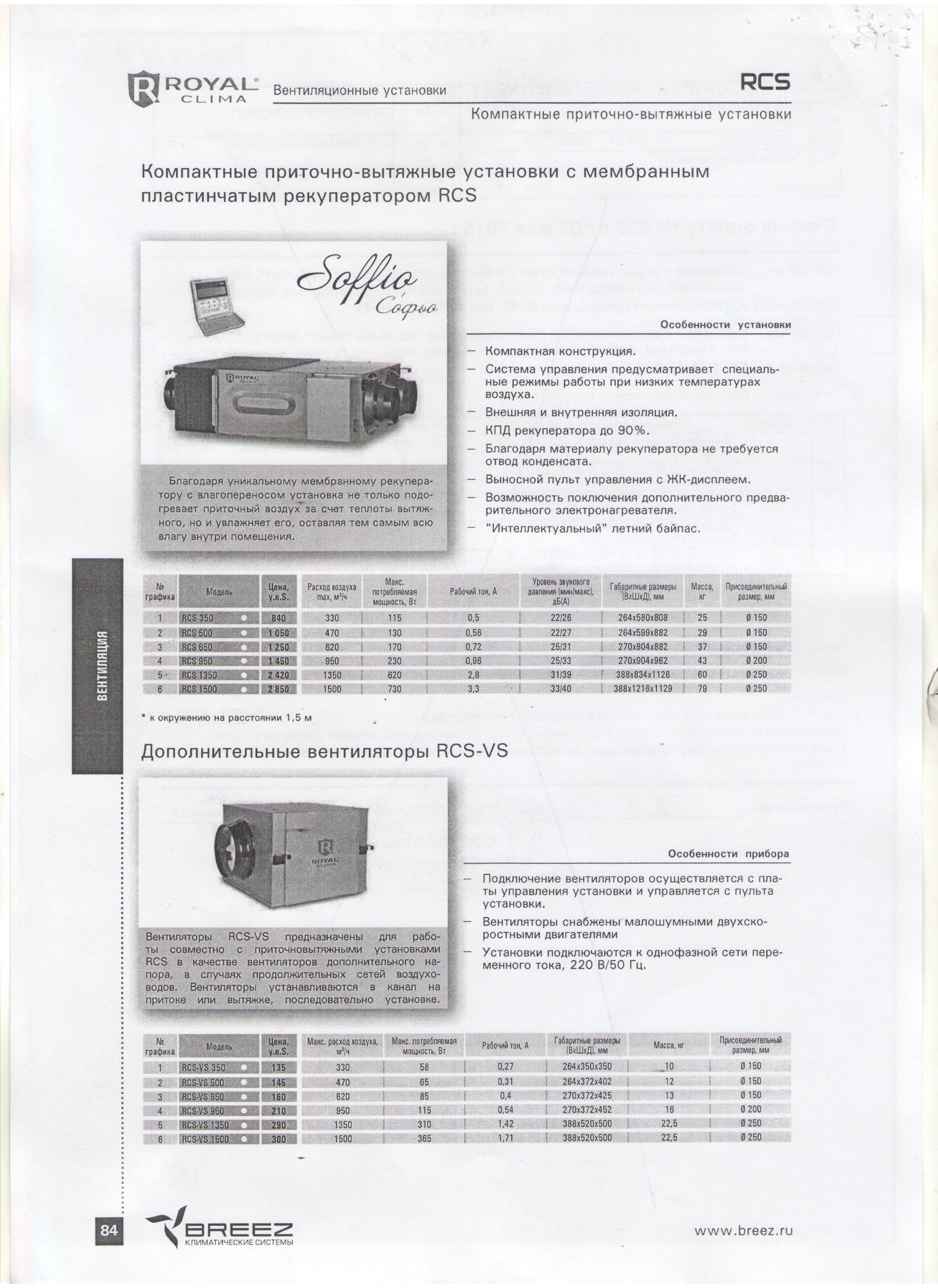 Скан каталога вентиляционных установок