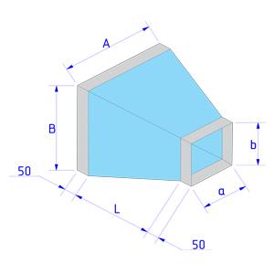 Переход с прямоугольного сечения на прямоугольное