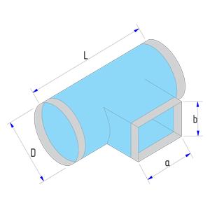 Тройник круглого сечения на прямоугольное