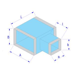 Тройник прямоугольного сечения на прямоугольное