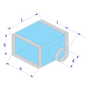 Тройник прямоугольного сечения на круглое