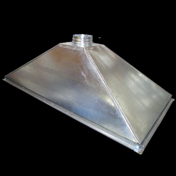 Зонт вытяжной купольный из оцинкованной стали